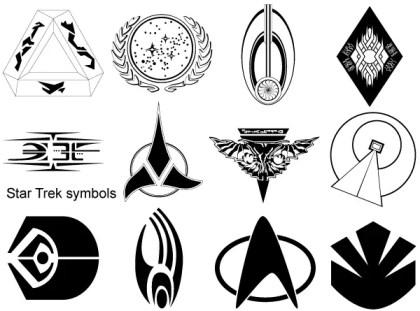 Star Trek Symbols Vector