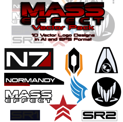 Mass Effect Free Vector Pack
