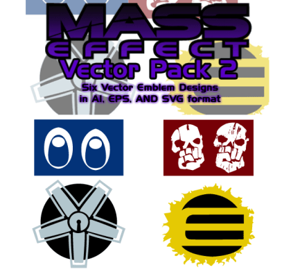 Mass Effect Free Illustrator Vector Pack 2