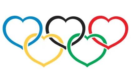 Heart Olympics symbol Vector