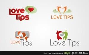 Love Tips Logo Free Vector Pack