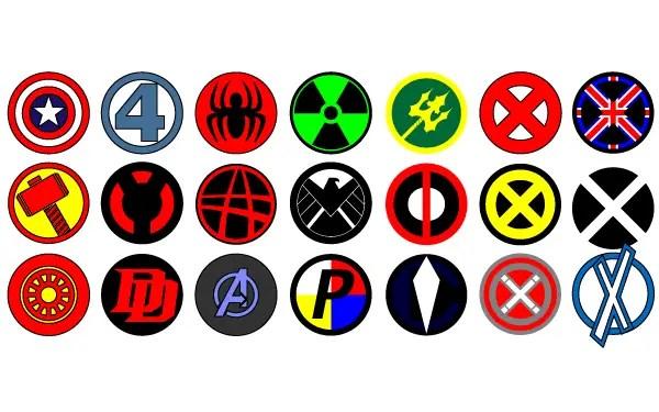vector marvel logos 123freevectors
