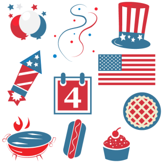 Happy Fourth of July Clipart