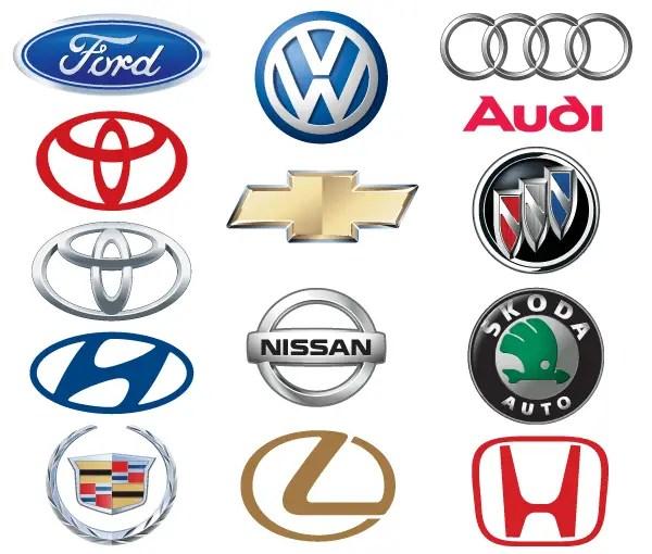 Famous Car Brand Logos Vector