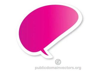 Free Vector Speech Bubble Sticker