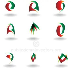 Vector Abstract Logo Design Elements