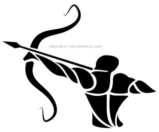 Sagittarius Zodiac Sign Vector Graphics