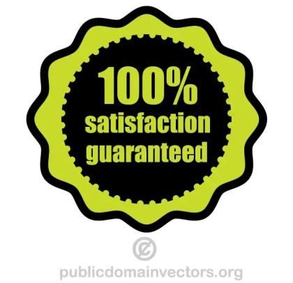 Free 100% Satisfaction Guaranteed Vector
