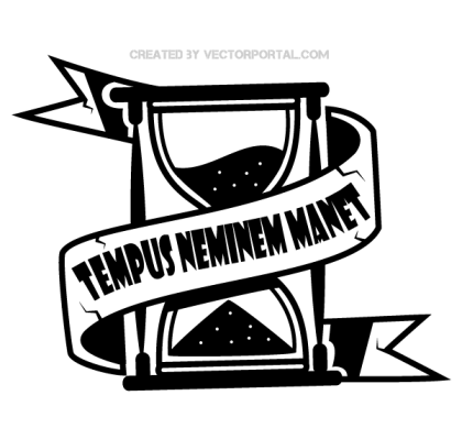 Tempus Nemini – Time Waits for No One Vector Illustration