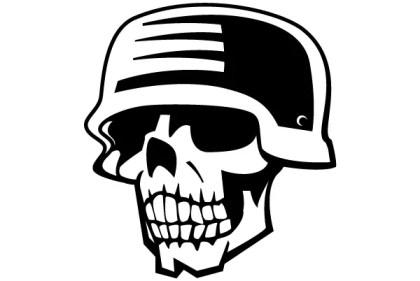 Soldier Skull Free Vector Clipart