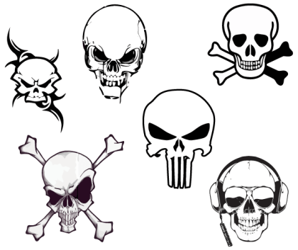 Vector Skulls Free