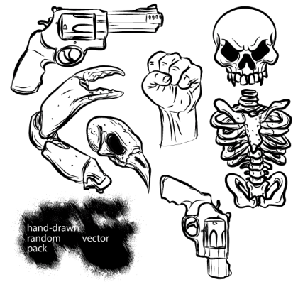 Hand Drawn Random Vector Pack Free