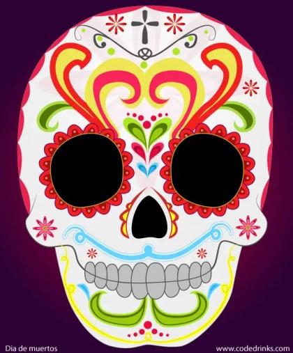 Day of the Dead Sugar Skull Vector Image