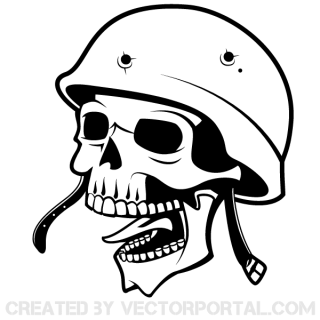 Soldier Skull with Helmet Vector Art