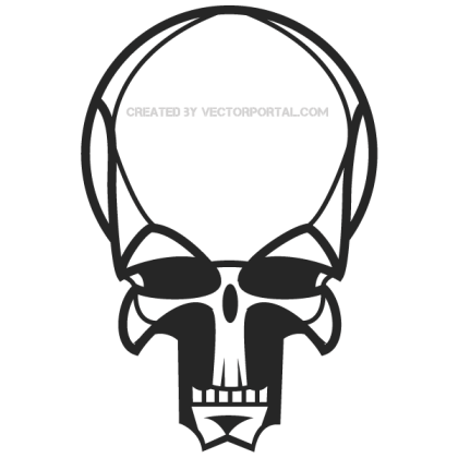 Vector Human Skull Image