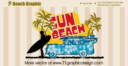 Beach Graphic design