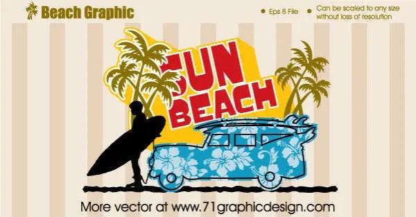 Beach Graphic design