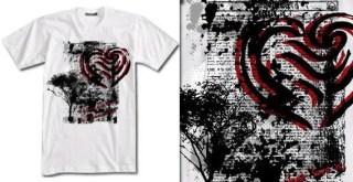Free Vector Grunge Tree T-shirt Design