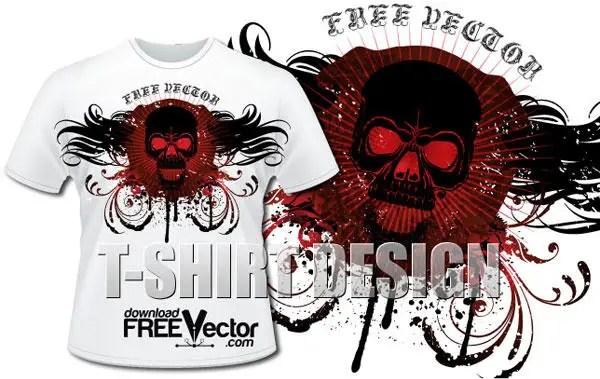 Skull T shirt Design Vector