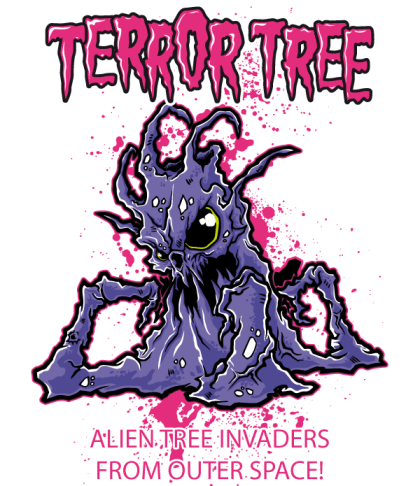 Free Vector T-shirt Design – Terror Tree