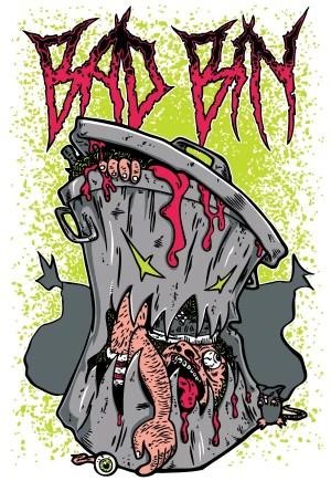 T-Shirt Design Free Download – Bad Bin