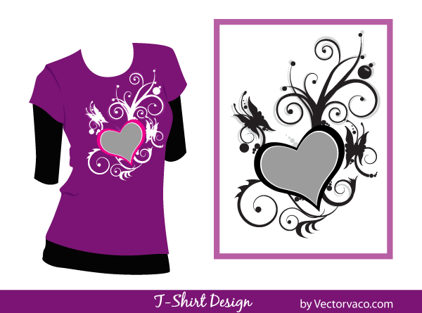 Free T-Shirt Design Floral Vector
