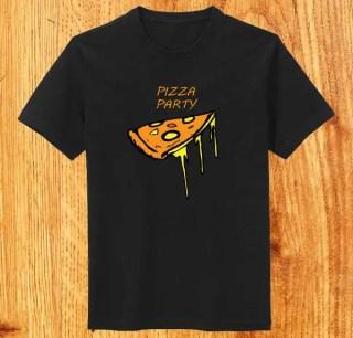 Funky Pizza T-shirt Design Vector