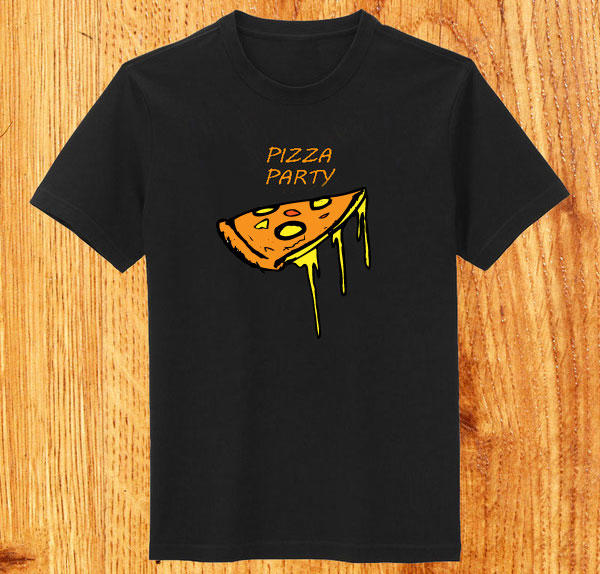 Funky Pizza T-shirt Design Vector