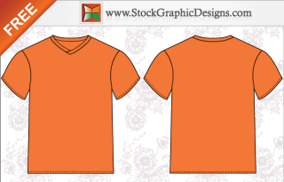 Men T-Shirt Template Free Vector Illustrator