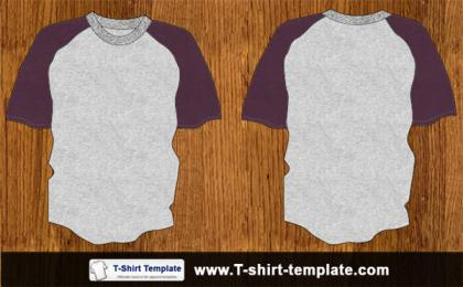 Youth Raglan T-shirt Template