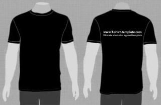 T-shirt vector template