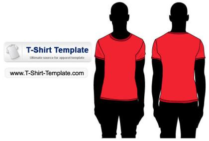 Short sleeve T-shirt template