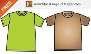 Free Apparel Men's T-shirt Template Design Vector