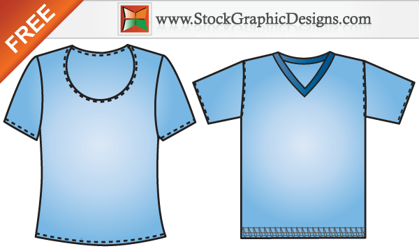 Free Vector Men's and Women's T-shirt Templates