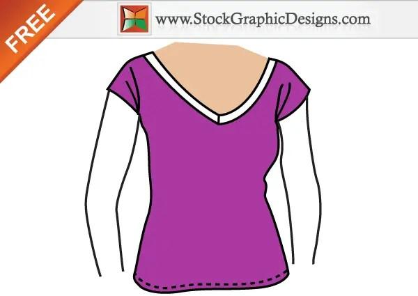 Girls Free Vector T-shirt Template Design