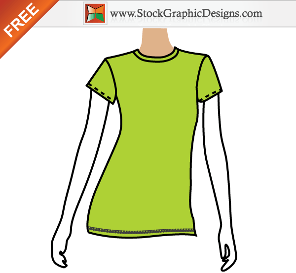 79d691abe997f Blank Tshirt Template Vector Front and Back
