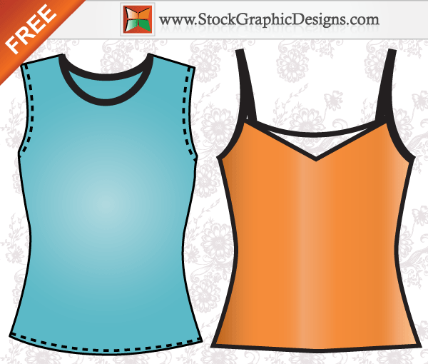 Apparel Ladies Sleeveless Shirt Template Free Vector