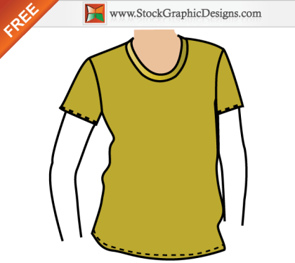 Apparel T-shirt Mockup Template Free Vector