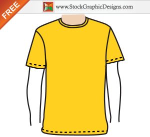 Apparel Mens Blank T Shirt Template Free Vector