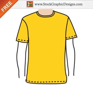 Apparel Men's Blank T-shirt Template Free Vector