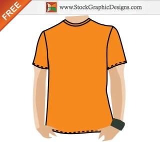 Blank Apparel Free T-shirt Template Vector