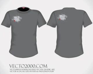 Men's Basic Free T-shirt Templates Vector