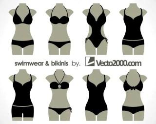 Illustration of Swimwear and Bikinis Free Vector Templates