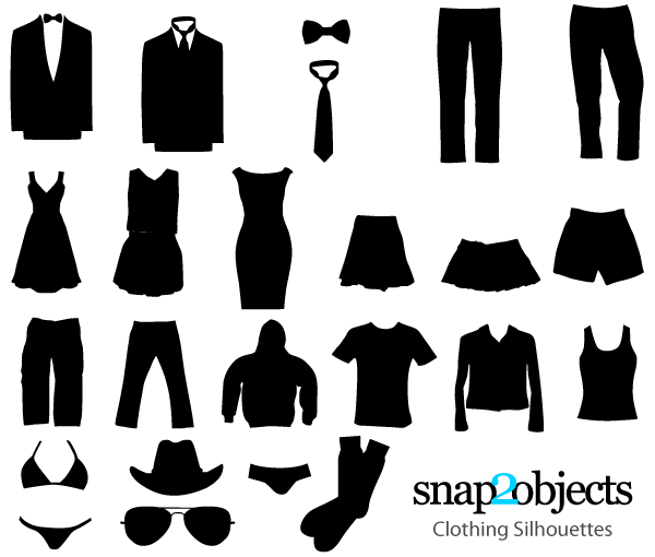 Free Clothing Vector Silhouettes