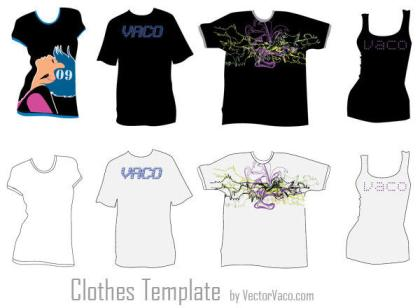 Tshirt Clothing Template Free Vector