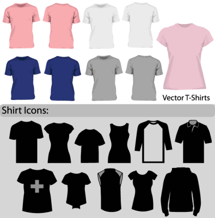 Free Blank T-Shirt Template Vector