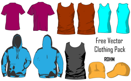 Free Vector T-Shirt Apparel Template Pack