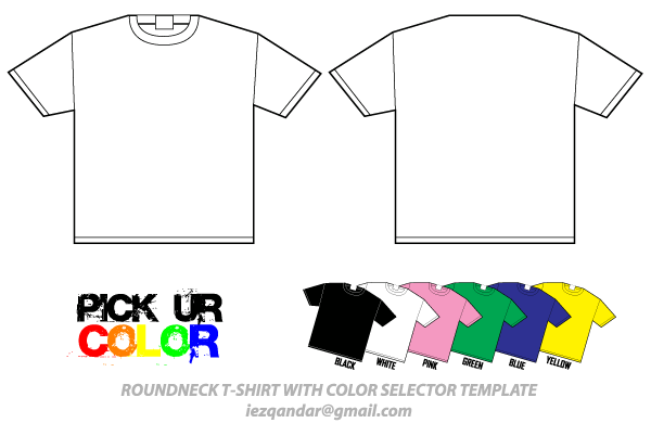 Round Neck T-Shirt Template Vector Pack