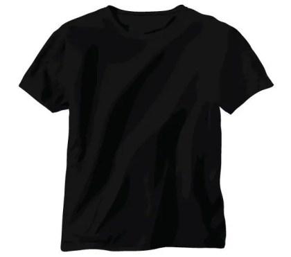 Free Tshirt Vector: Black Shirt Template