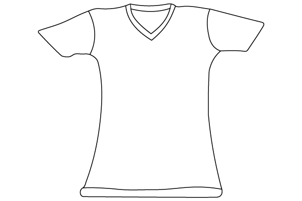 T-Shirt Vector Template Illustrator